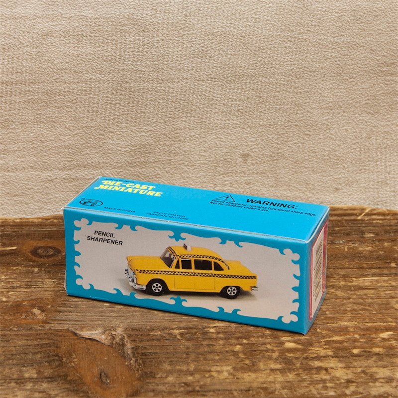 【ミニチュア】アンティークシャープナー[イエロータクシー]鉛筆削り