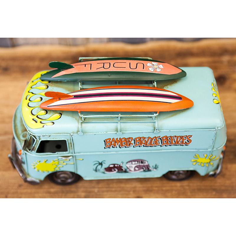 ヴィンテージカー[SURF バス BLUE]<アメリカン雑貨>