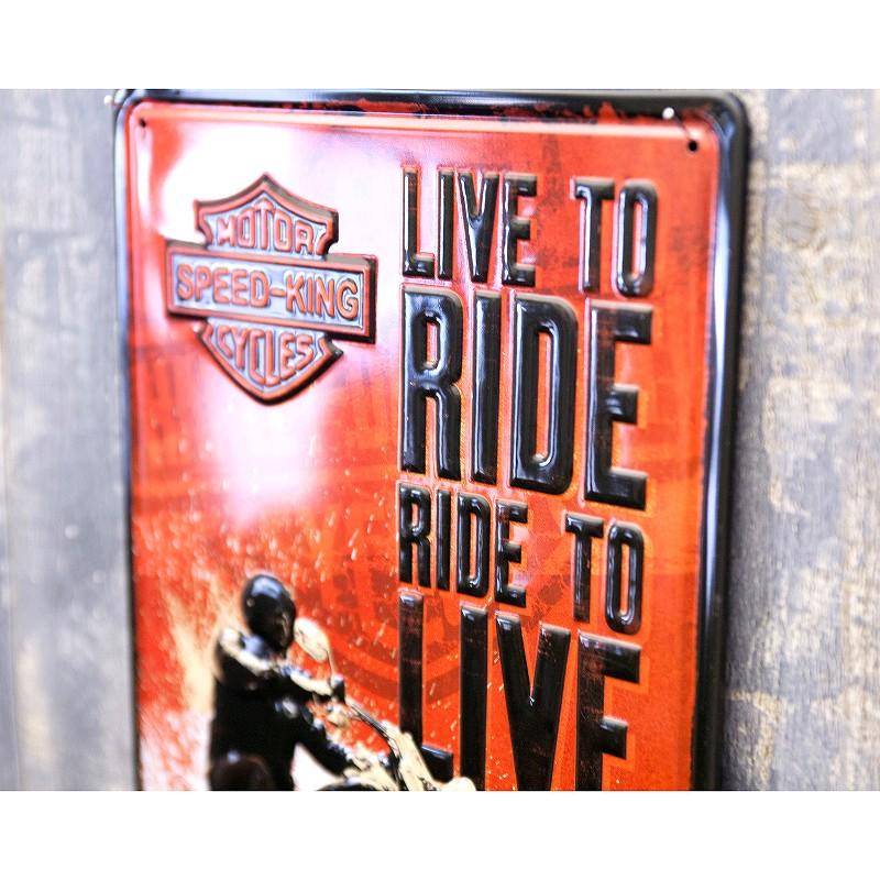 アンティークメタルプレート S [RIDE TO LIVE]