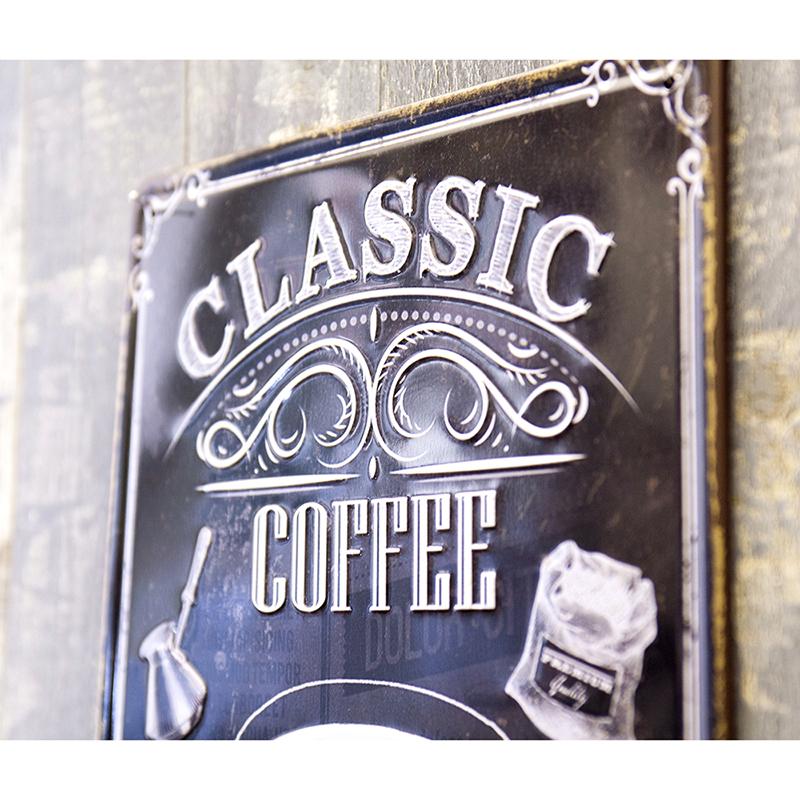 アンティークメタルプレート S [CLASSIC COFFEE]