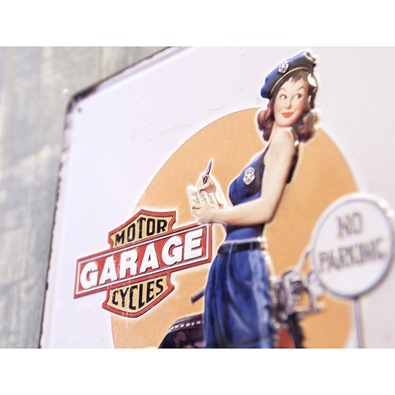 アンティークメタルプレート S [GARAGE GIRL]<アメリカン雑貨>