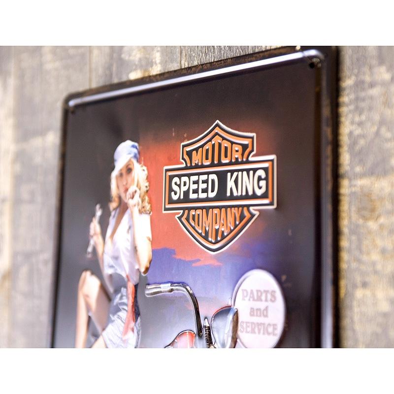 アンティークメタルプレート S [SPEED KING GIRL]