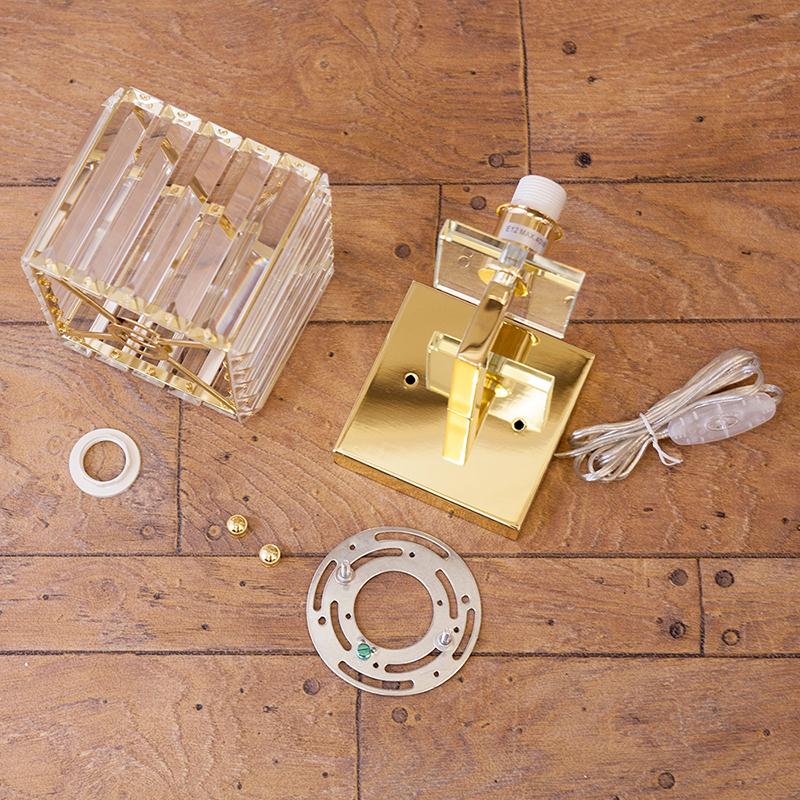 【壁照明】クリスタルウォールランプ[LARY ラリー(1灯)]<E12/水雷型>