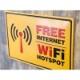 アンティークメタルプレート S [FREE WIFI ]