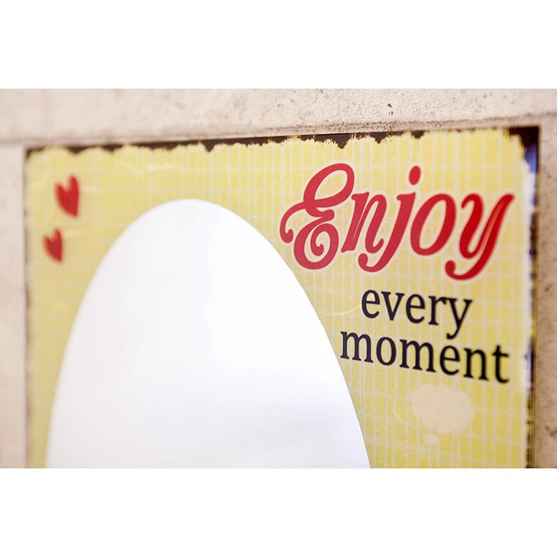 ウォールミラー[Enjoy every moment]