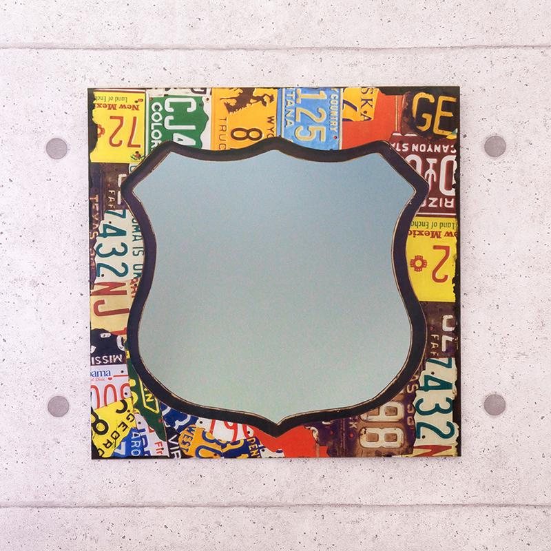 ウォールミラー[number plate]