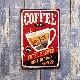 アンティークメタルプレート S [coffee]<アメリカン雑貨>