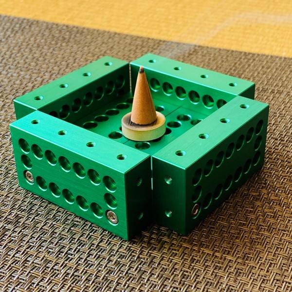ブロック10ピースセット(グリーン) 【ギフトボックス入り・ボールポイントドライバー付き】