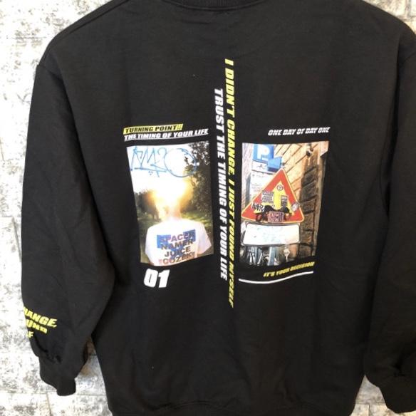 back print Tシャツ
