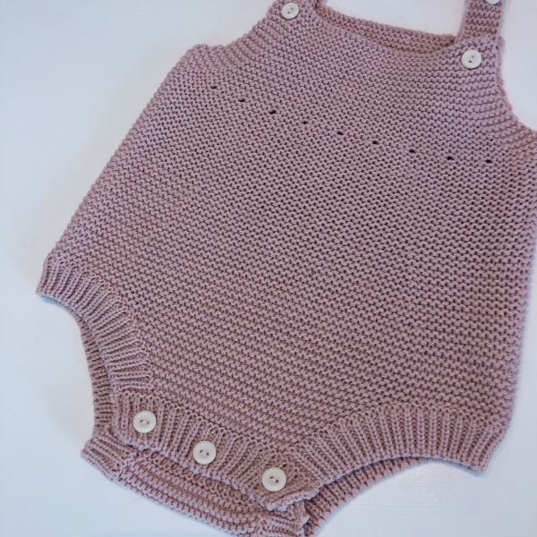 Button Knit rompers ※シャツセット