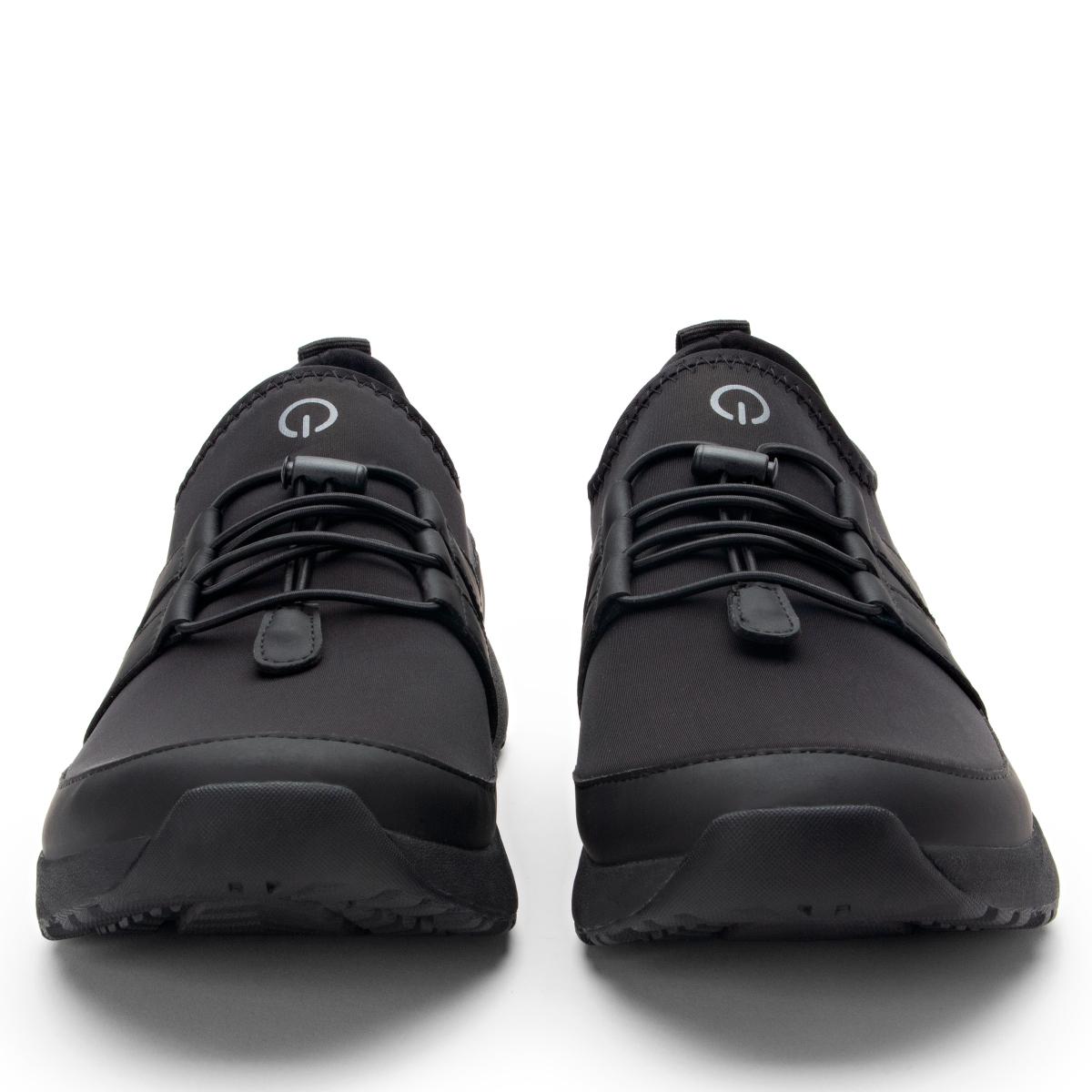 TRAQ メンズ レースアップ スニーカー  ブラック