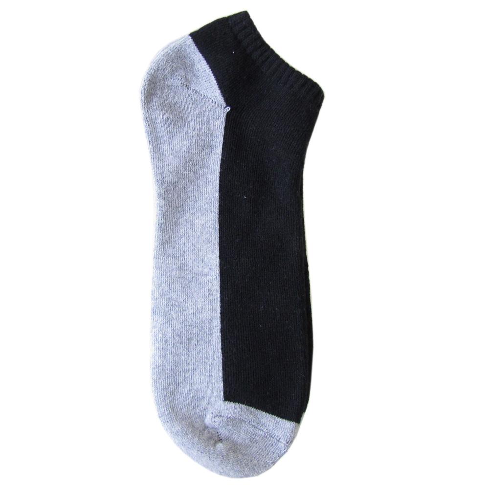 メール便可275円 ポロ ラルフローレン メンズ ソックス 靴下 無地 バイカラー ブラック×グレー 80101PG BLACK
