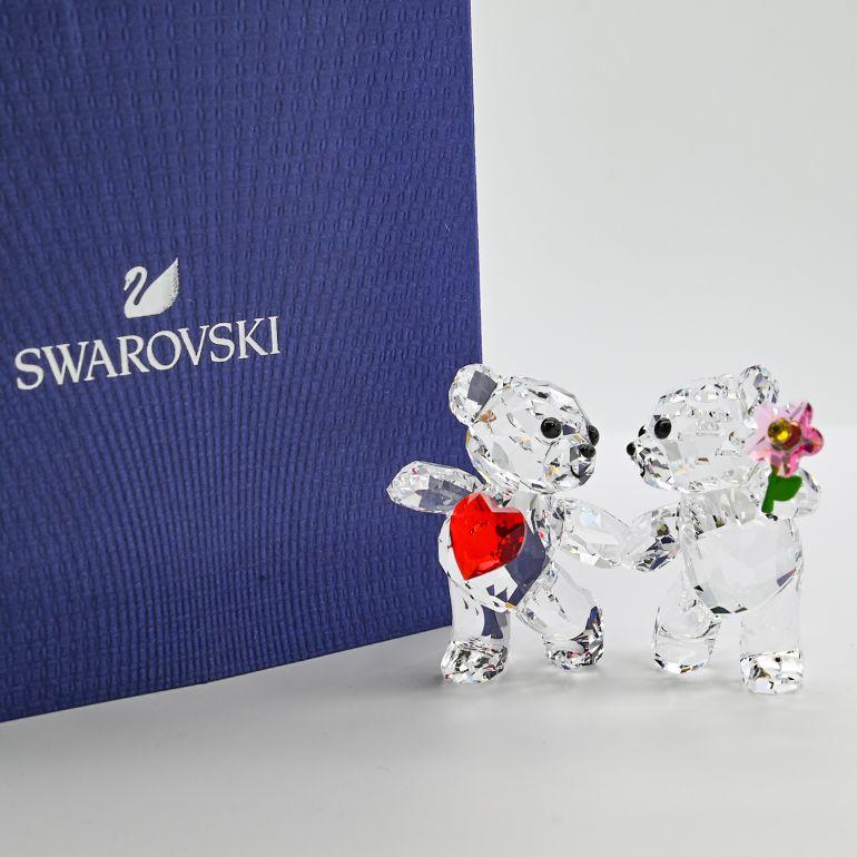 スワロフスキー SWAROVSKI フィギュリン KRISベア HAPPY TOGETHER フィギュア オブジェ 置物 5558892