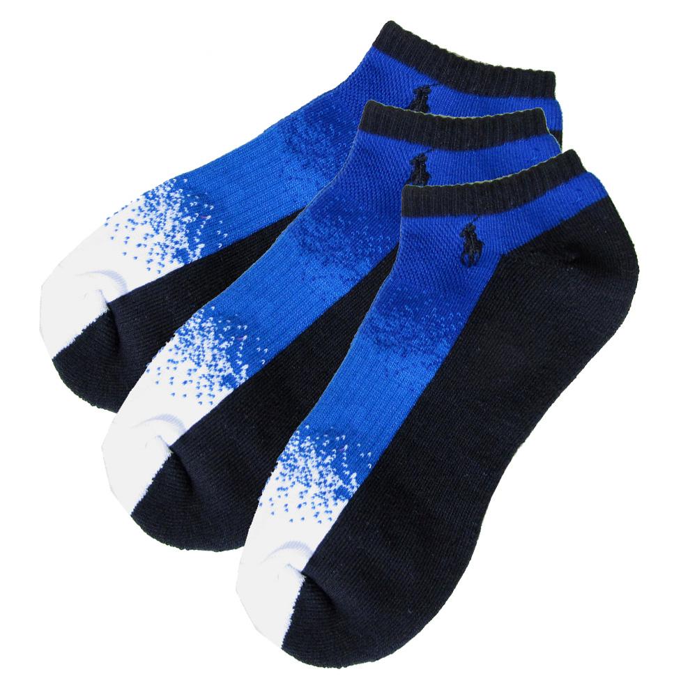 メール便可275円 ポロ ラルフローレン メンズ ソックス 靴下 3足セット ブラック ブルー 80097PG BKROY
