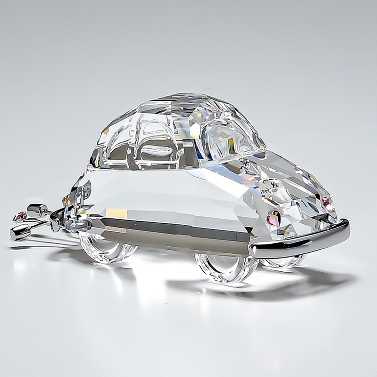 スワロフスキー SWAROVSKI クリスタルフィギュア JUST MARRIED CAR ブライダルカー オブジェ 置物 5492225