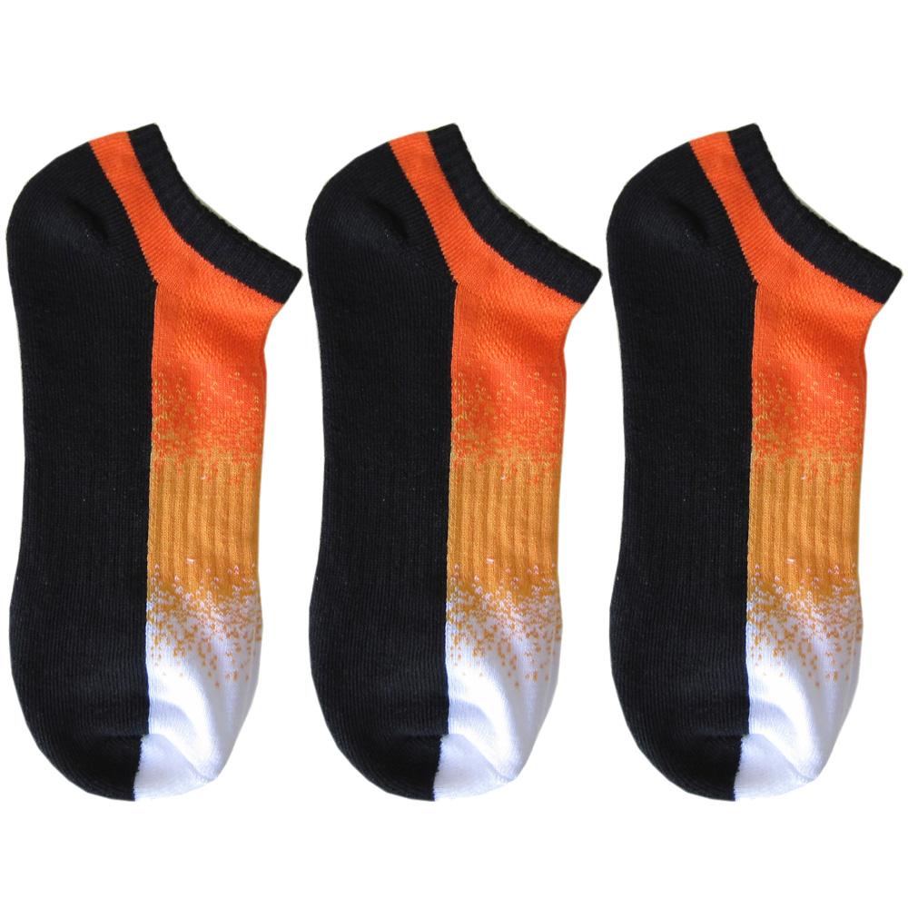 メール便可275円 ポロ ラルフローレン メンズ ソックス 靴下 3足セット ブラック オレンジ 80097PG BKORG