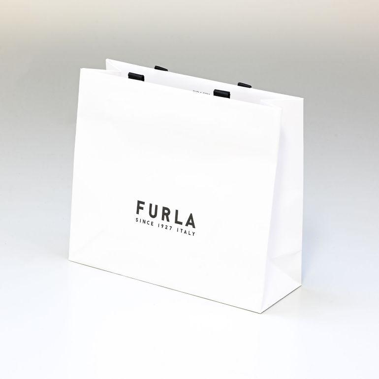 【袋のみの購入不可】フルラ 純正紙袋 Mサイズ 折財布、長財布、一部小さなバッグ用 H22cm×W25cm×D9cm ※対象のフルラ商品と同時購入