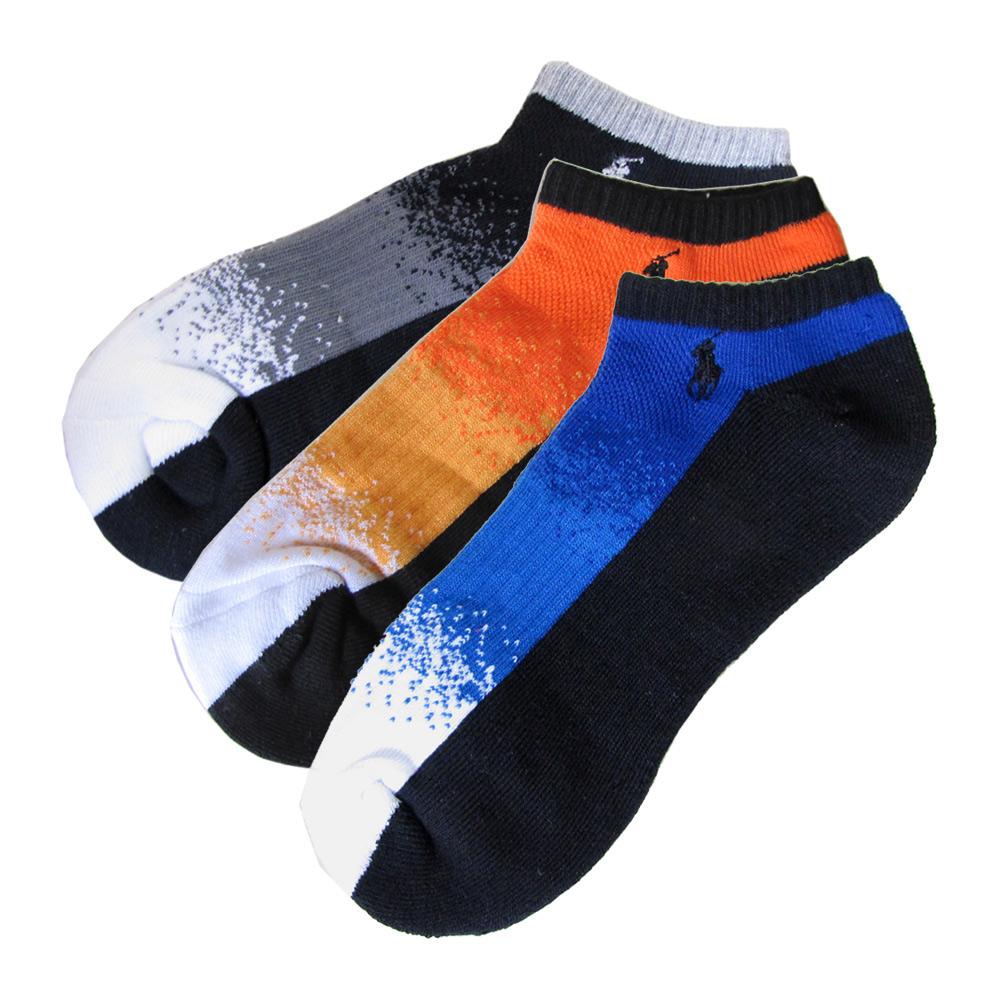 メール便可275円 ポロ ラルフローレン メンズ ソックス 靴下 3足セット グレー オレンジ ブルー 80097PG 3色セット