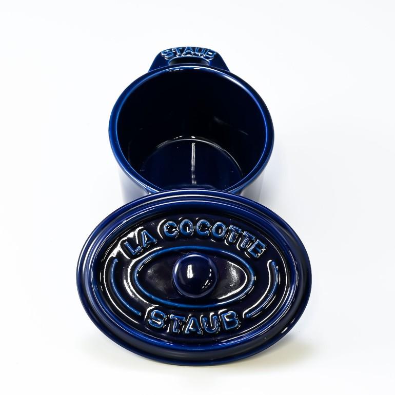 ストウブ 鍋 セラミック 11cm ミニココット オーバル グランブルー 40511 087 0