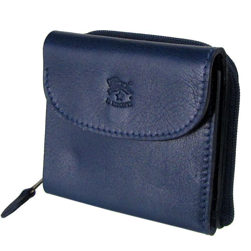 イルビゾンテ IL BISONTE 3つ折り財布 ミニ財布 メンズ レディース バケッタレザー BLU ブルー C0554 P 866 名入れ可有料 ※名入れ別売り