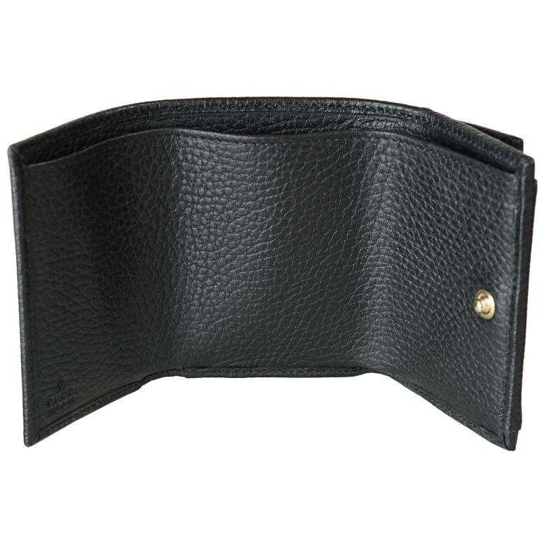 グッチ GUCCI 3つ折財布 レディース ミニ財布 ミニウォレット スマートウォレット GGマーモント ブラック 523277 CAO0G 1000