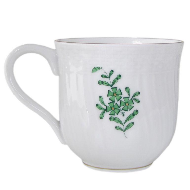名入れ可有料 ヘレンド マグカップ アポニー・グリーン 洋食器 手描き 200ml 1739000 AV 【01739000-AV】