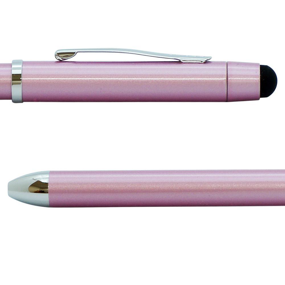 クロス ボールペン メンズ レディース TECH3+ テックスリー プラス フロスティピンク 多機能ペン マルチペン 複合ペン (黒+赤+シャープペンシル) 名入れ無料