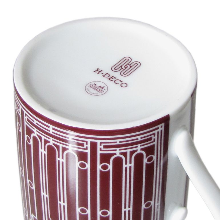 エルメス HERMES マグカップ Hデコ H DECO ROUGE Hデコ アッシュデコ ルージュ 300ml 41131P 名入れ可有料