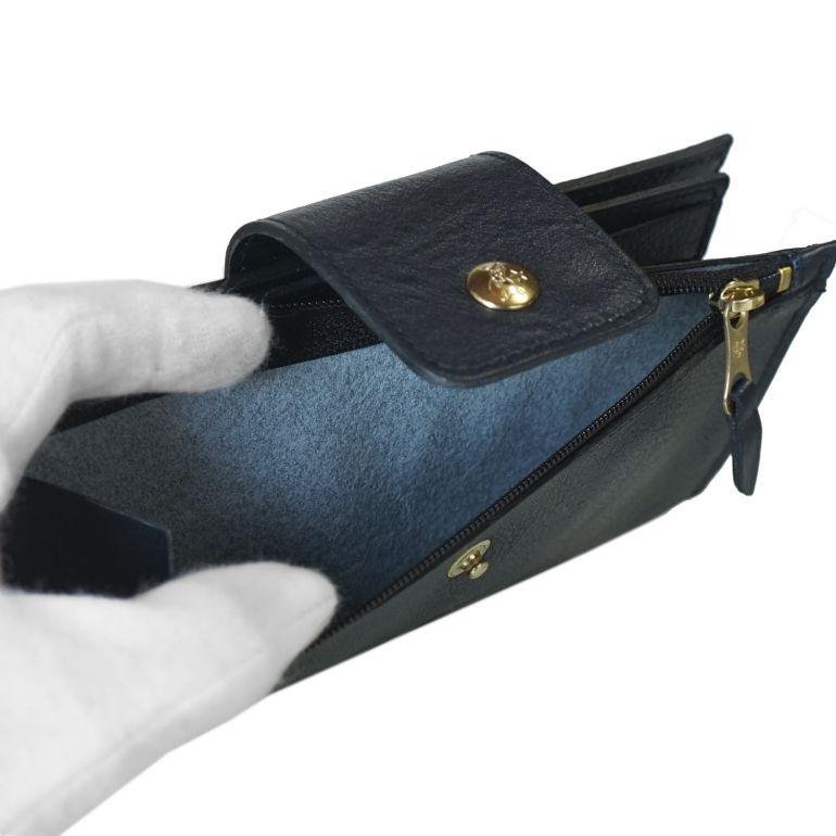 イルビゾンテ 長財布 スナップベルト留 バケッタレザー NAVY ダークネイビー C0688 P 137 名入れ可有料