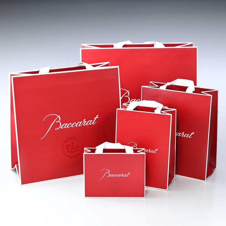 バカラグラス純正紙袋 もれなくバカラリボンでラッピング バカラ商品1点につき1枚まで注文可能 【単品購入不可】