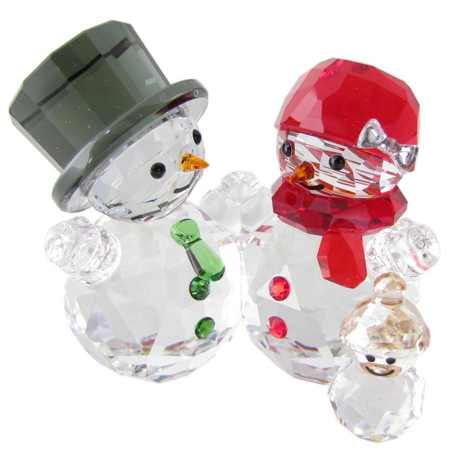 スワロフスキー SWAROVSKI クリスタルフィギュア スノーマンの家族 クリスマス オブジェ 置物 5533948