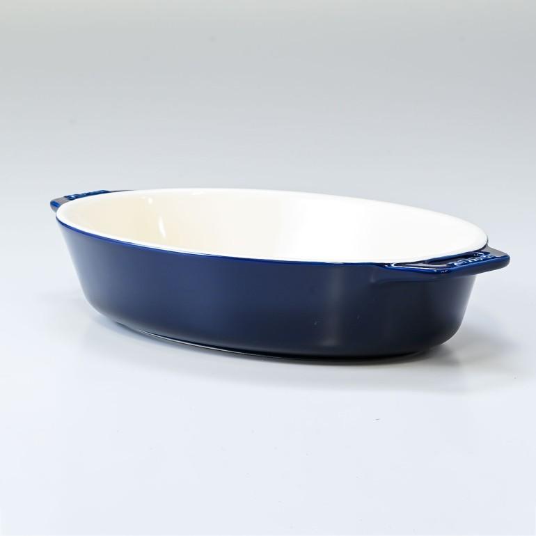 ストウブ オーバルディッシュ 23cm セラミック Roasting Dish oval Dark Blue ダークブルー 40511-157-0