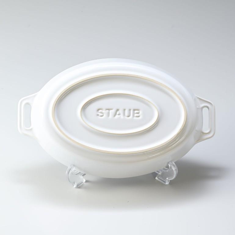 ストウブ オーバルディッシュ 23cm セラミック Roasting Dish oval White ホワイト 40511-158-0