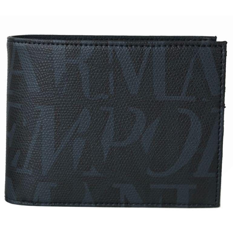 エンポリオ アルマーニ EMPORIO ARMANI 2つ折財布 メンズ ブラック Y4R165 YI46E 81127 名入れ可有料