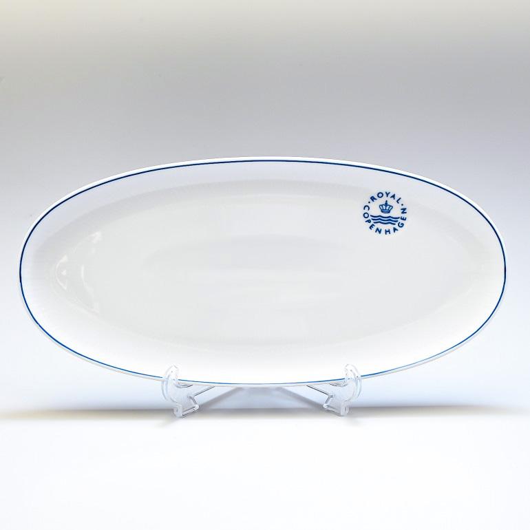 ロイヤルコペンハーゲン ブルーライン ロング オーバルディッシュ プレート 36.5cm 大皿 1658359 (1058880) 名入れ可有料