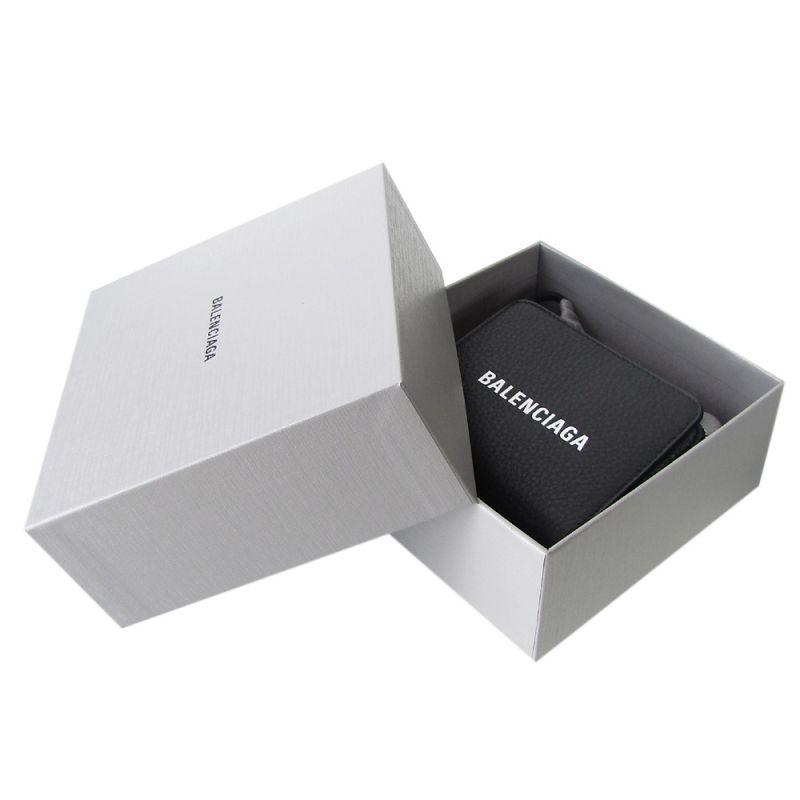 バレンシアガ ラウンドファスナー 2つ折り財布 メンズ レディース エブリデイ ビルフォード 551933 DLQ4N 1000 ノアール