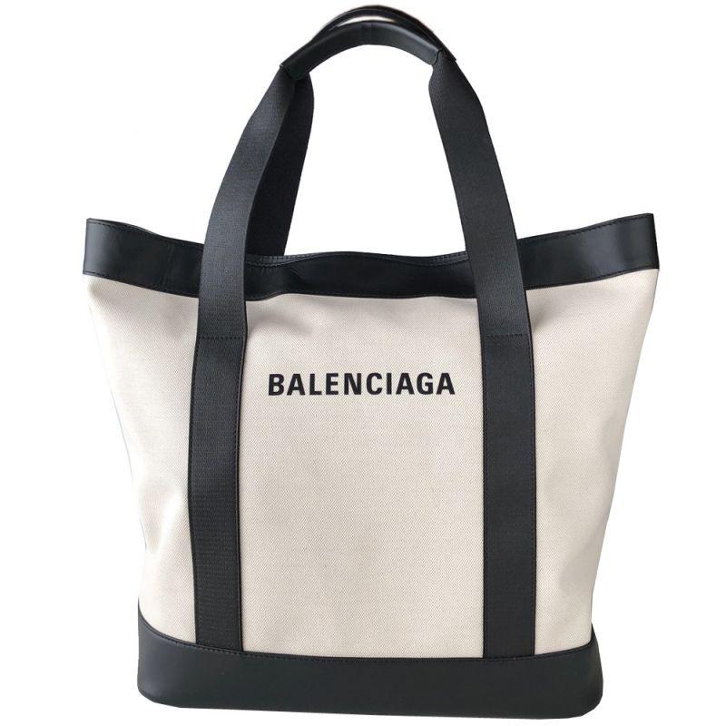 バレンシアガ BALENCIAGA レディース トート ハンドバッグ バッグ ネイビー 374767 AQ38N 9260 ナチュラル/ノアール