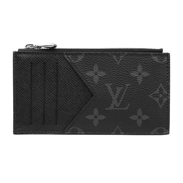 新品 ルイ・ヴィトン スマートウォレット コインカード フォルダー モノグラム エクリプス タイガ M30271 フラグメントケース メンズ ミニ財布 コンパクト財布 カードケース 小銭入れ キャッシュレス