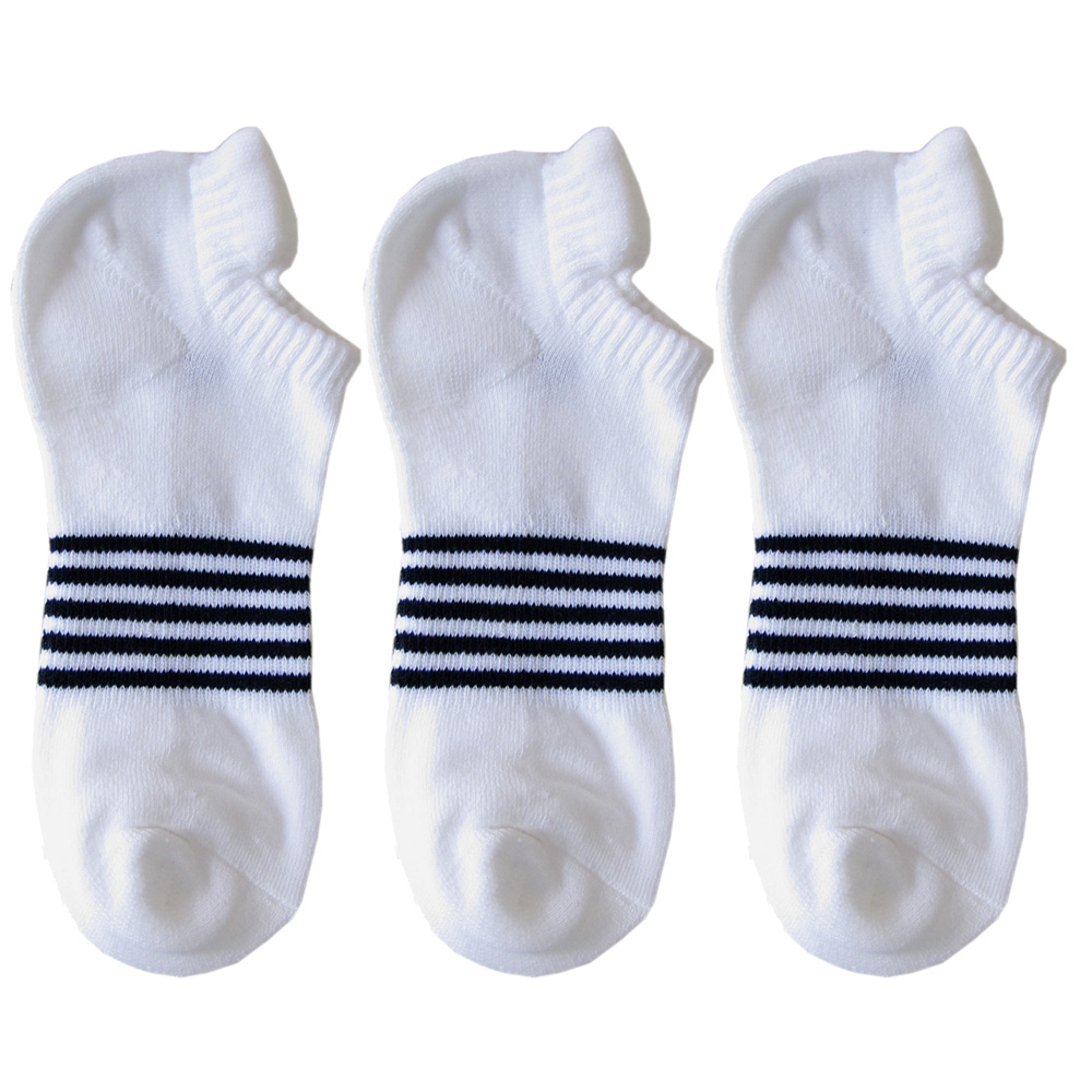 メール便可275円 ポロ ラルフローレン メンズ ソックス 靴下 ボーダー ホワイト 3足セット 80093PG WHITE
