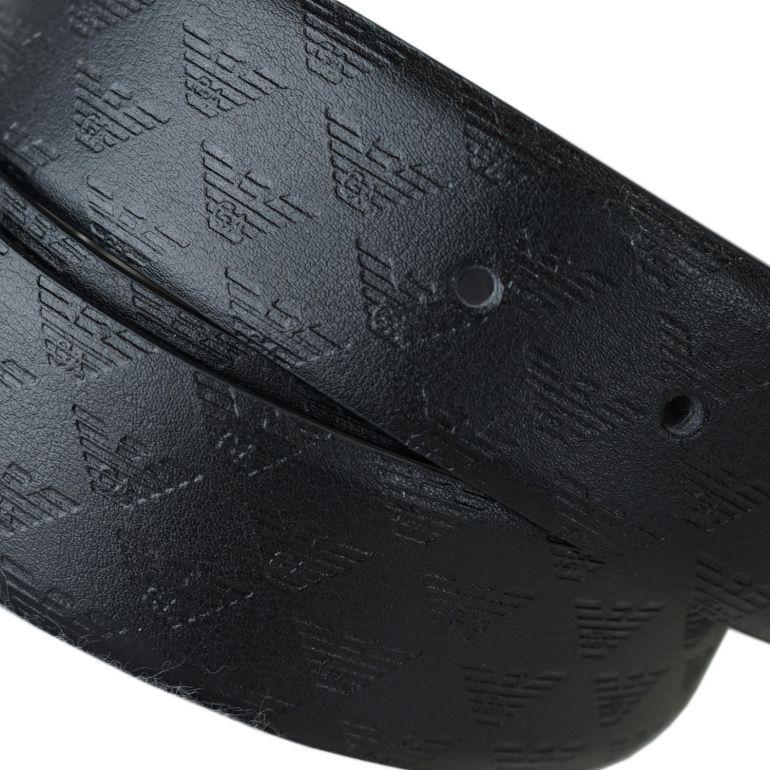 エンポリオ アルマーニ EMPORIO ARMANI ベルト メンズ 幅3.5cm ストリンガシステム対応 リバーシブル ブラック Y4S070 YKL2E 88443