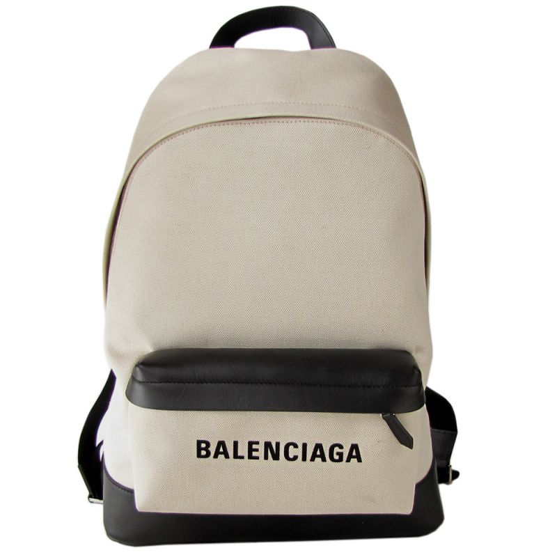 バレンシアガ BALENCIAGA コットンキャンバス リュック バックパック ナチュラル/ノアール 392007 AQ3AN 9260