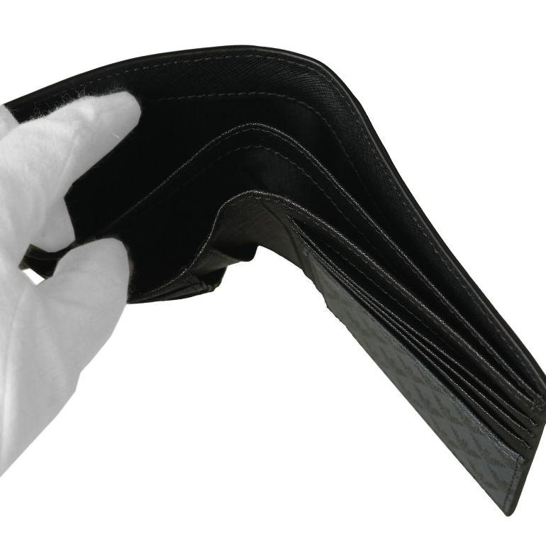 エンポリオ アルマーニ EMPORIO ARMANI 二つ折り財布 メンズ オールオーバーロゴ グレー PVC Y4R066 YG91J 81072 名入れ可有料