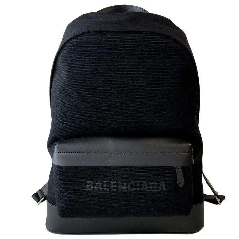 バレンシアガ BALENCIAGA コットンキャンバス リュック バックパック ノアール 392007 AQ3AN 1000