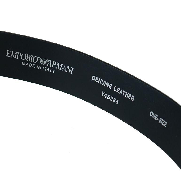 エンポリオ アルマーニ EMPORIO ARMANI ベルト メンズ 幅3.5cm ストリンガシステム対応 ブラック Y4S284 YSP6J 80001
