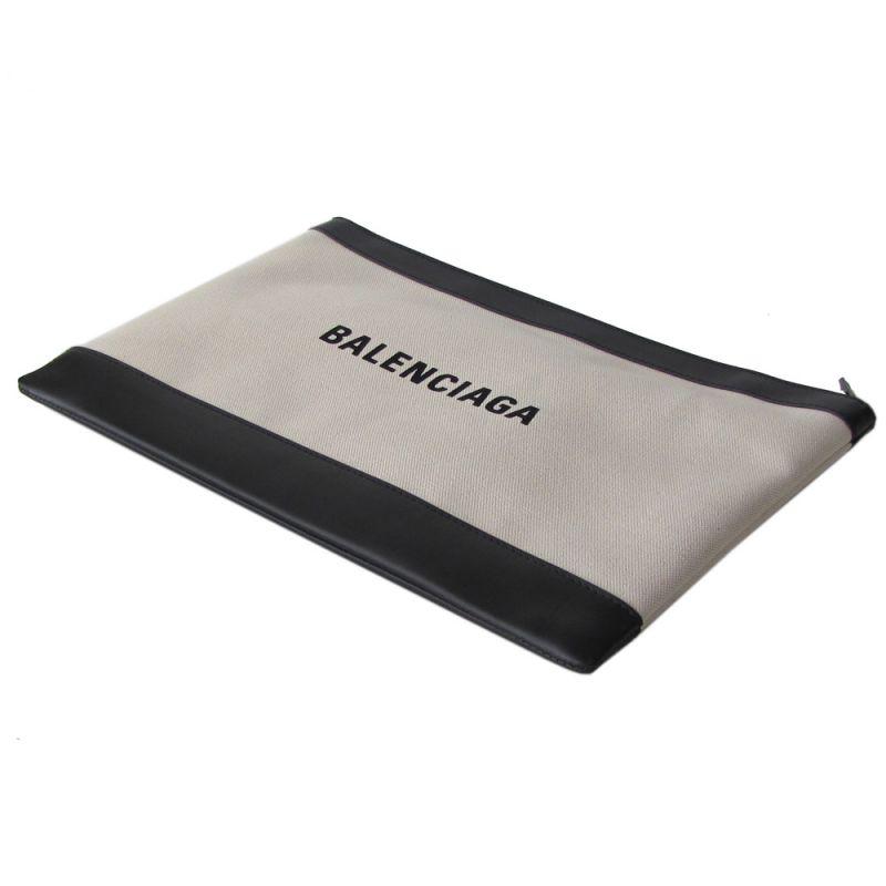 バレンシアガ BALENCIAGA メンズ レディース  クラッチバッグ ネイビー 373840 AQ3BN 9260 ナチュラル/ノアール