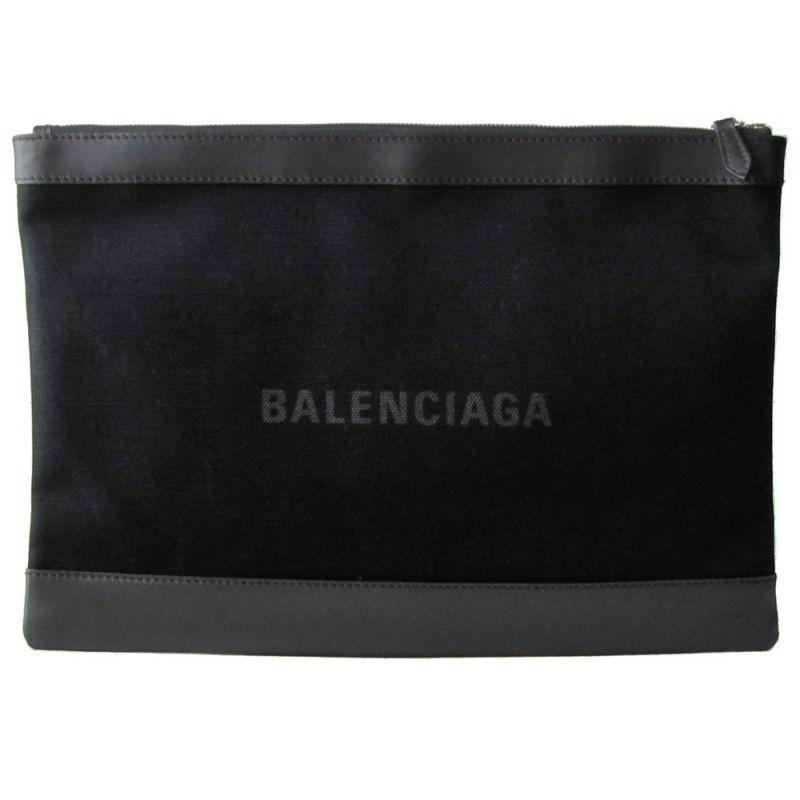 バレンシアガ BALENCIAGA メンズ レディース  クラッチバッグ ネイビー 373840 AQ3BN 1000 ノアール