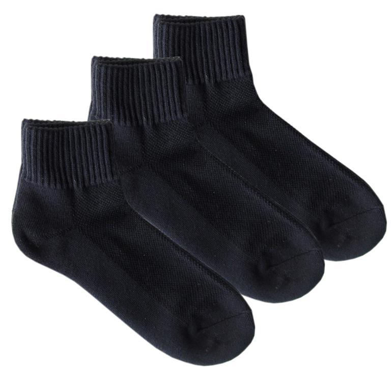 メール便可275円 ポロ ラルフローレン POLO RALPH LAUREN レディース ソックス 靴下 無地 3足セット ブラック 7340PK BLACKkss