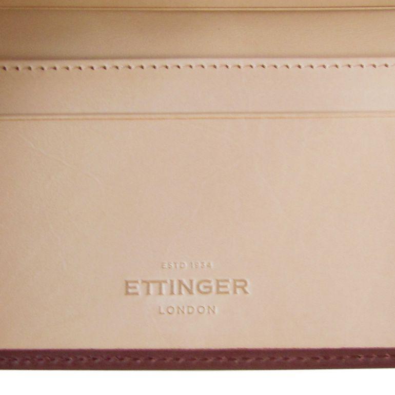 エッティンガー カードケース 名刺入れ メンズ ファインレザー バイカラー ブラウン×ベージュ SC143JR BRACKEN EGG SHELL 名入れ可有料