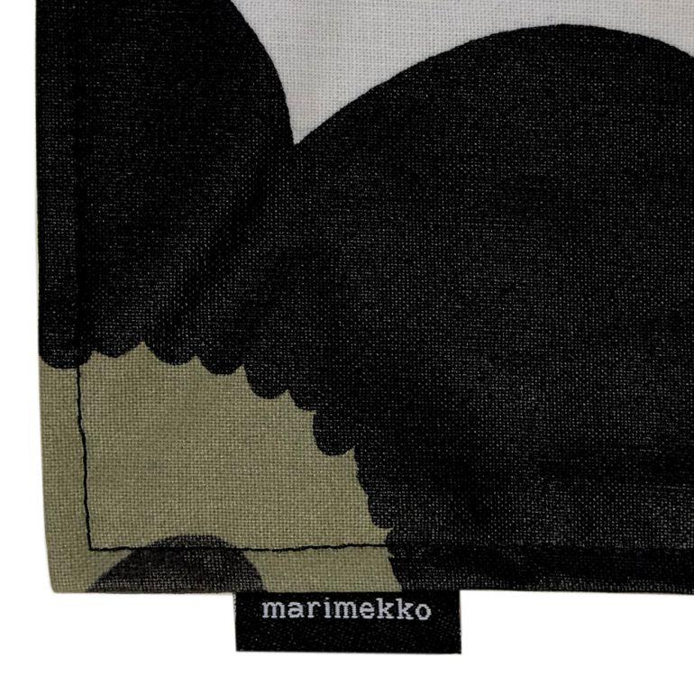 メール便可275円 マリメッコ プレイスマット ランチョンマット PIENI UNIKKO ピエニ ウニッコ ホワイト×ブラック 069858 030