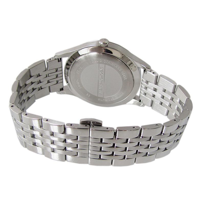 エンポリオ アルマーニ 腕時計 EMPORIO ARMANI CLASSIC クラシック クリーム×シルバー ステンレスベルト メンズ AR1881